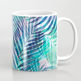 Palm Leaves - Indigo Green Kaffeebecher