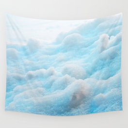 Blue Snow Wall Tapestry