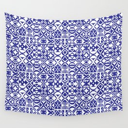 Geometric hydraulic tiles Wall Tapestry