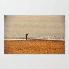 Beach Contemplation Canvas Print