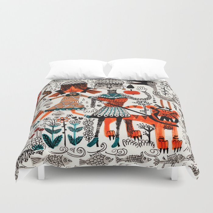 By The River Duvet Cover