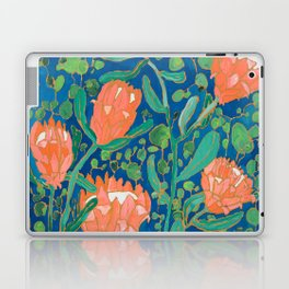 Coral Proteas on Blue Pattern Painting Laptop & iPad Skin