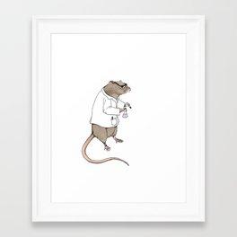 Lab Rat | Color Framed Art Print