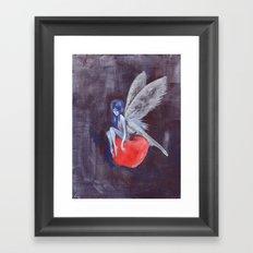 Fairy Loves Apple Framed Art Print