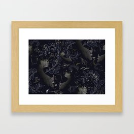 Navy blue. Deep sea blues Framed Art Print