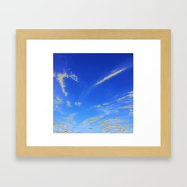 Fly, in the sky, like a butterfly ... Framed Art Print