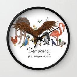 Democracy Wall Clock