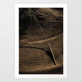 Sand Grass Wind Art Print