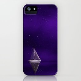 Purple Ship iPhone Case