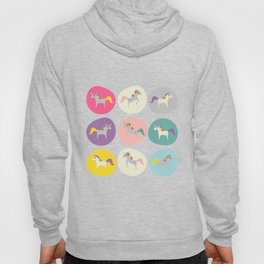 Cute Unicorn polka dots pink pastel colors and linen texture #homedecor #apparel #stationary #kids Hoody