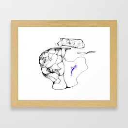 Pieces of my mind Framed Art Print