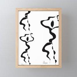 Dance into the fire Framed Mini Art Print