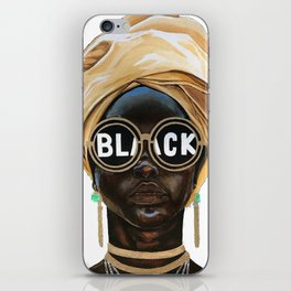 Black Woman iPhone Skin
