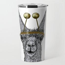 lama christmas Travel Mug