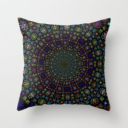 Mandala Symbol Throw Pillow