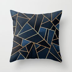 Navy Stone Throw Pillow