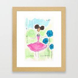 Tia Skipping So Happy Framed Art Print