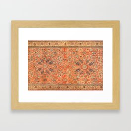 Antique Persian Sultanabad Rug Print Framed Art Print