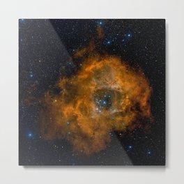STARS COSMIC UNIVERSE GALAXY NEBULA EARTH SUN MOON Metal Print