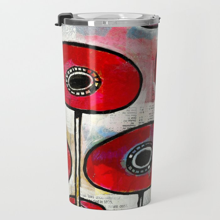 Poppies #4 Travel Mug