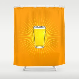 Beer Pint Star Shower Curtain