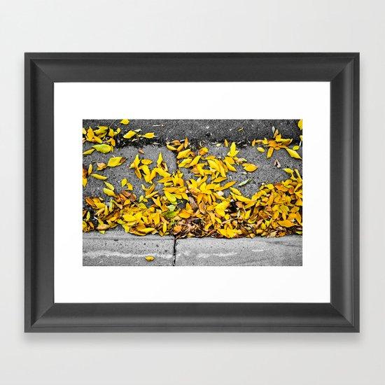 Guttered Fall Framed Art Print