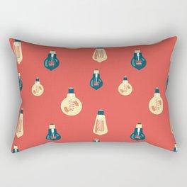 Antique glass bulbs drops orange Rectangular Pillow