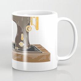 I Drive Fast & Barefoot  Fabric Sewing Machine Gift T-Shirt Coffee Mug