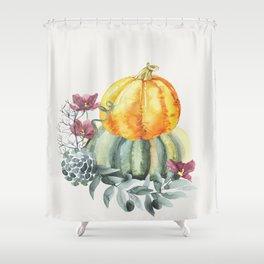 Pretty Pumpkins Shower Curtain
