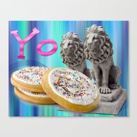 cookies Canvas Prints featuring COOKIES! by Aldo Couture