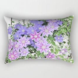 Clematis Multiplied Rectangular Pillow