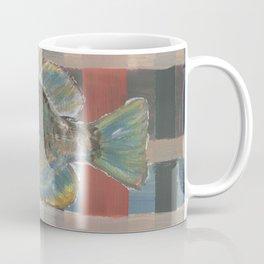 Bluegill on Earth Tone Plaid Coffee Mug