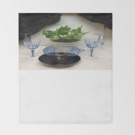 Mink 'n Classy Blue Wine Glasses Throw Blanket