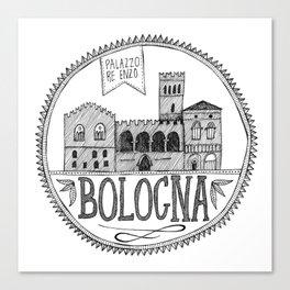 Palazzo Re Enzi, Bologna Canvas Print