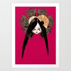 Ma petite Japonaise v4 Art Print