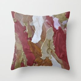 Deep Rich Something Throw Pillow