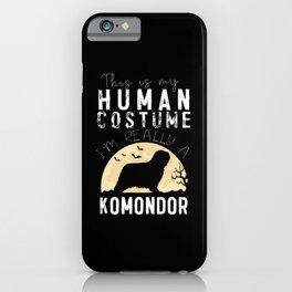 Halloween Human Costume Komondor Creepy Horror iPhone Case