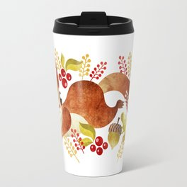 Playful Squirrel Travel Mug