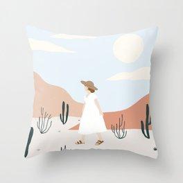 desert wandering Throw Pillow