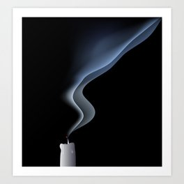 blown out candle Art Print