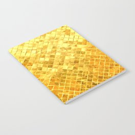 Give me Gold: festive, golden, fashionable, 3-d, glittery, Christmas, cheerful, lattice design Notebook