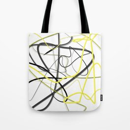 Yellow Black Strokes by LH Tote Bag