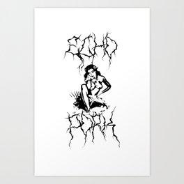 Echo Pork - Hula Art Print