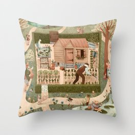 Beatrix's Friends Throw Pillow