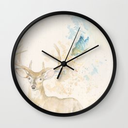 Deer and butterfly Wall Clock