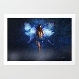 Blue Faery Art Print