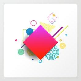 Displaced Geometry Art Print