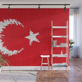 Extruded flag of Turkey Wall Mural