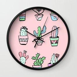 Cactus Party Wall Clock