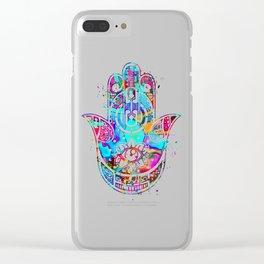 Watercolor Hamsa Hand Clear iPhone Case